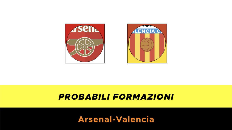 Arsenal-Valencia probabili formazioni