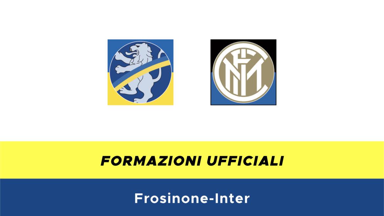Frosinone-Inter formazioni ufficiali