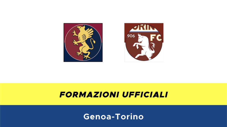Genoa-Torino formazioni ufficiali