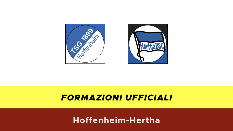 Hoffenheim-Herta formazioni ufficiali