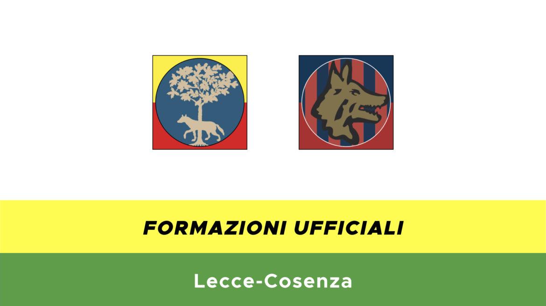 Lecce-Cosenza formazioni ufficiali