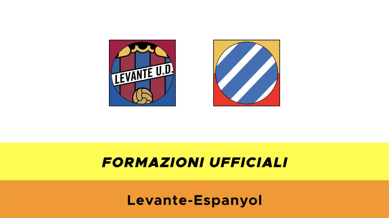 Levante-Espanyol formazioni ufficiali