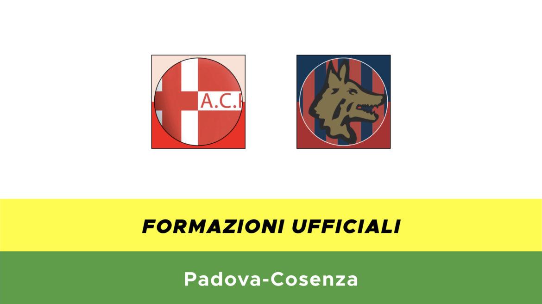 Padova-Cosenza formazioni ufficiali