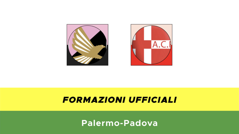 Palermo-Padova formazioni ufficiali