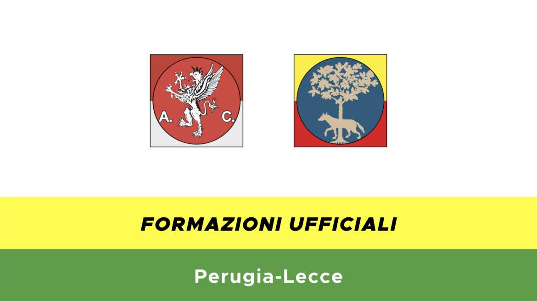 Perugia-Lecce formazioni ufficiali