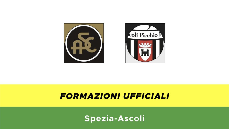 Spezia-Ascoli formazioni ufficiali