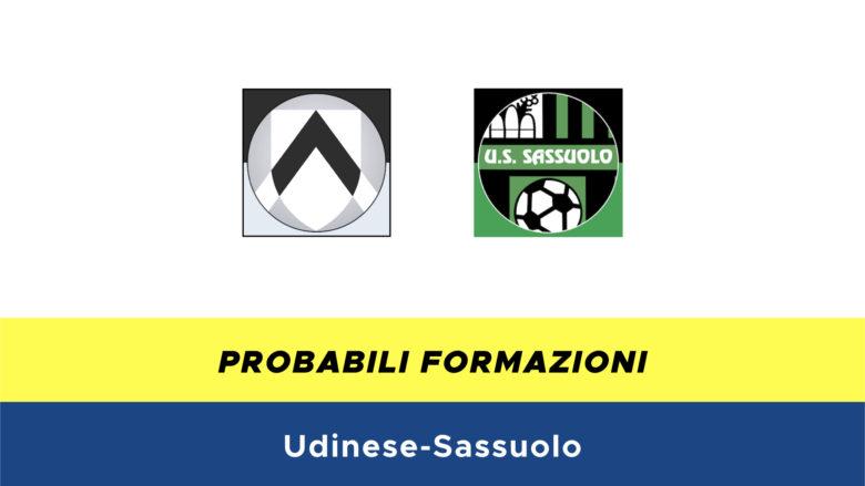 Udinese-Sassuolo probabili formazioni