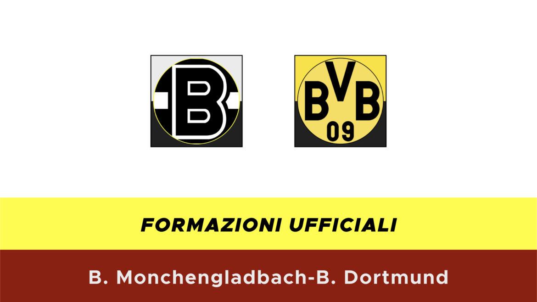 Borussia M'Gladbach-Borussia Dortmund formazioni ufficiali