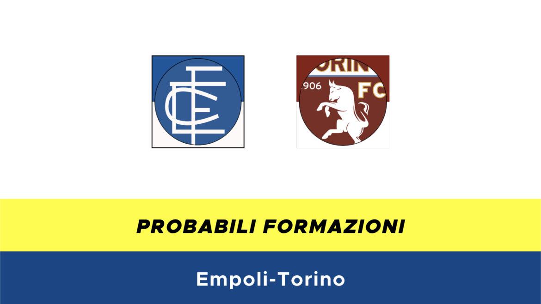 Empoli-Torino probabili formazioni