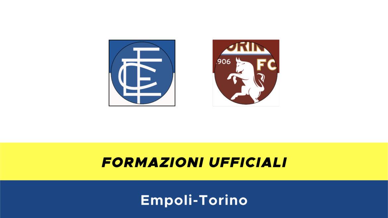 Empoli-Torino formazioni ufficiali