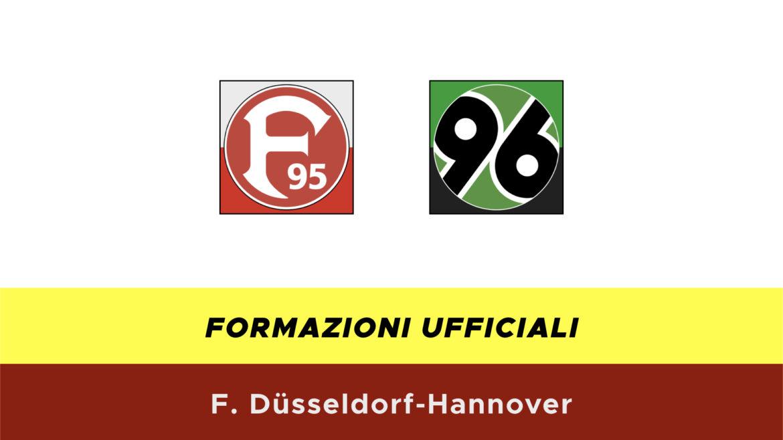 Fortuna-Hannover formazioni ufficiali