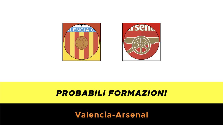Valencia-Arsenal probabili formazioni