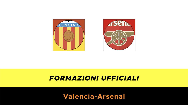 Valencia-Arsenal formazioni ufficiali