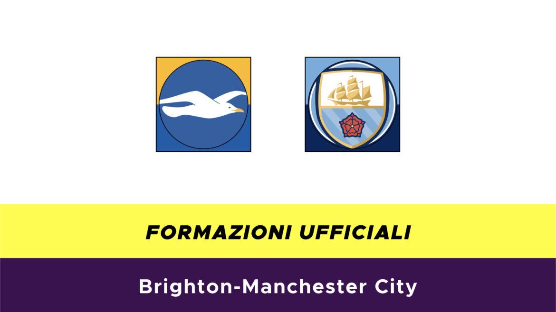 Brighton-Manchester City formazioni ufficiali