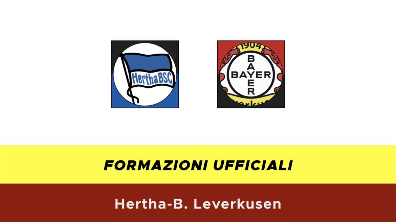 Hertha-Leverkusen formazioni ufficiali