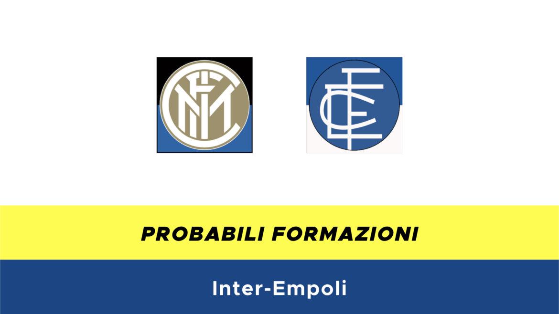 Inter-Empoli probabili formazioni