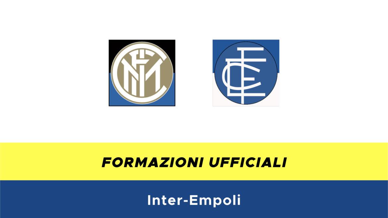Inter-Empoli formazioni ufficiali