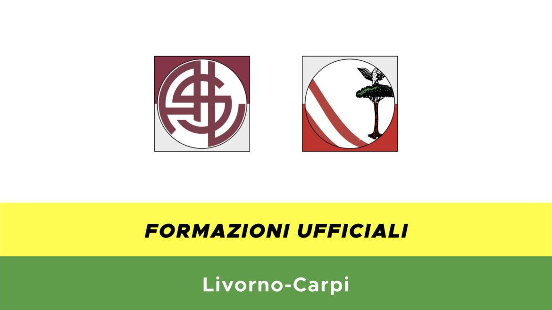 Livorno-Carpi formazioni ufficiali