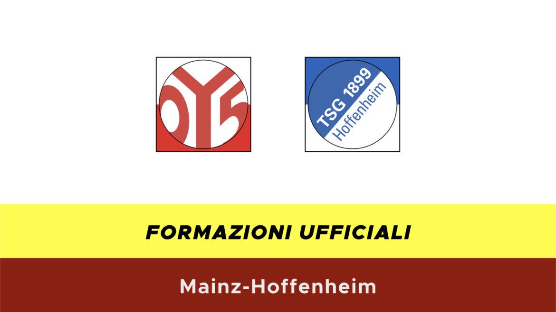 Mainz-Hoffenheim formazioni ufficiali