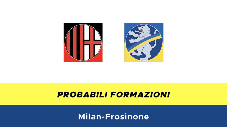 Milan-Frosinone probabili formazioni