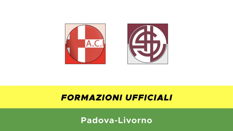 Padova-Livorno formazioni ufficiali