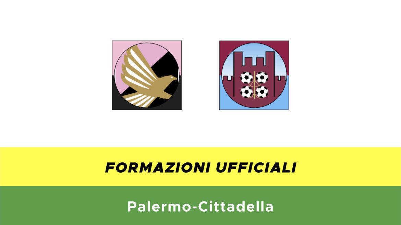 Palermo-Cittadella formazioni ufficiali