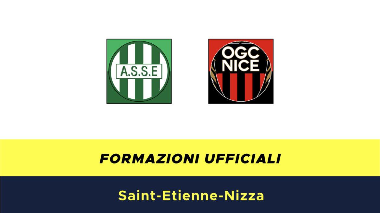 St.Etienne-Nizza formazioni ufficiali