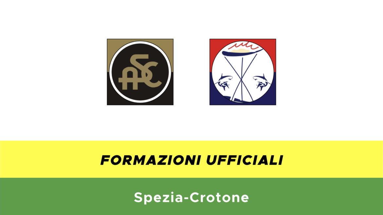 Spezia-Crotone formazioni ufficiali