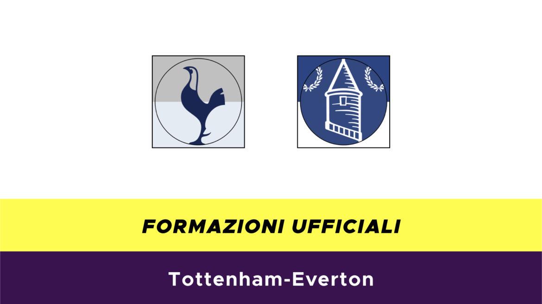Tottenham-Everton formazioni ufficiali
