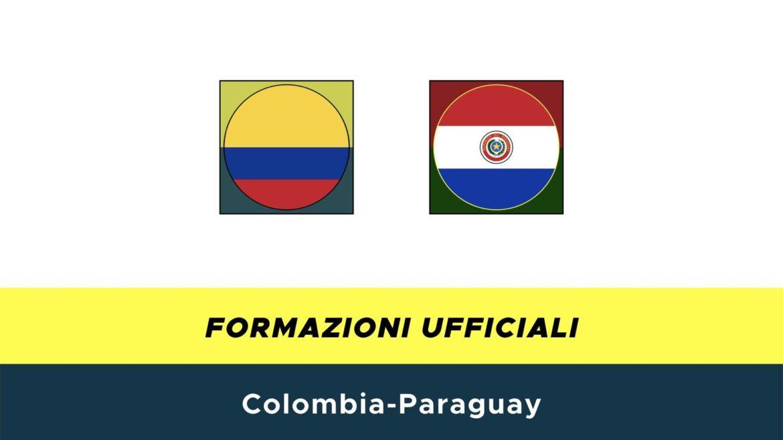Colombia-Paraguay formazioni ufficiali