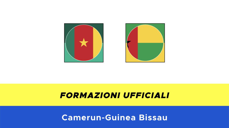 Camerun-Guinea Bissau formazioni ufficiali