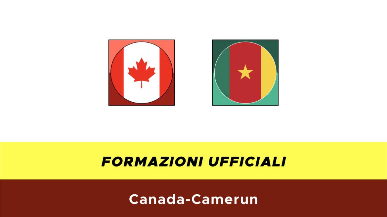 Canada-Camerun formazioni ufficiali