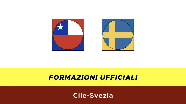 Cile-Svezia formazioni ufficiali