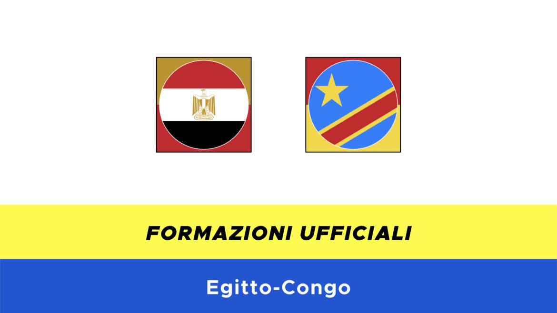 Egitto-Congo formazioni ufficiali