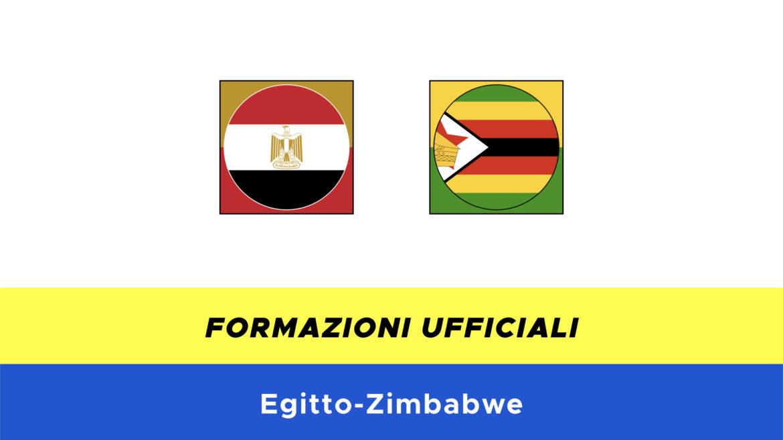 Egitto-Zimbabwe formazioni ufficiali