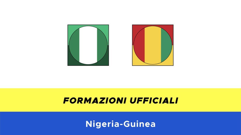 Nigeria-Guinea formazioni ufficiali