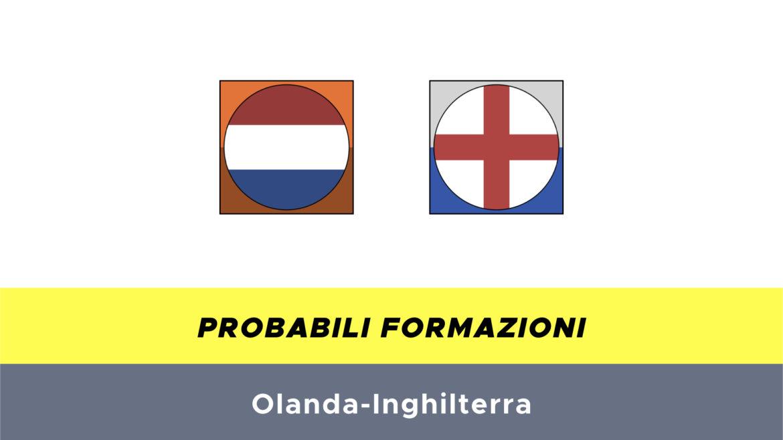 Olanda-Inghilterra probabili formazioni