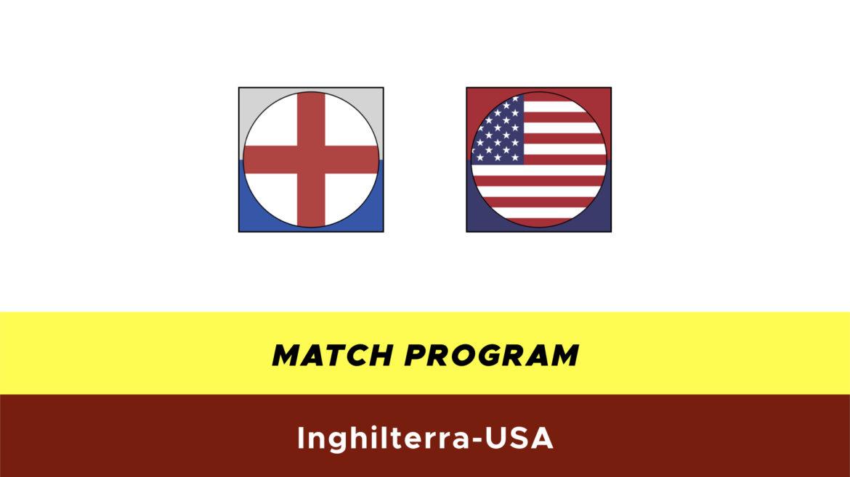 Inghilterra-USA probabili formazioni