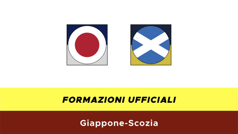 Giappone-Scozia formazioni ufficiali