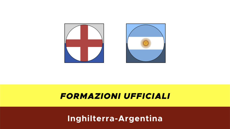 Inghilterra-Argentina formazioni ufficiali