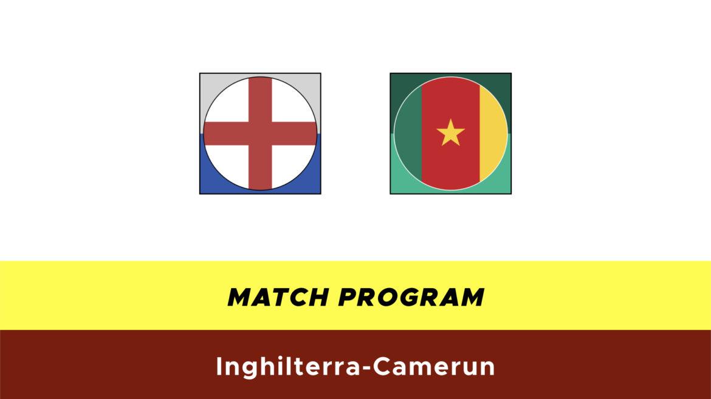 Inghilterra-Camerun probabili formazioni