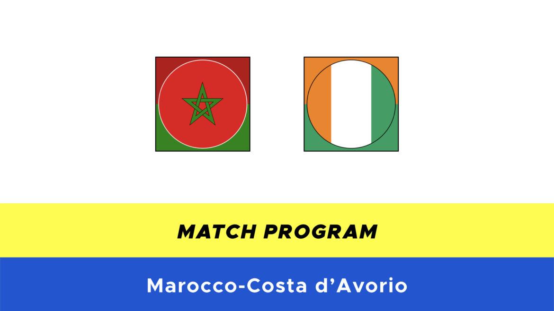 Marocco-Costa d'Avorio probabili formazioni