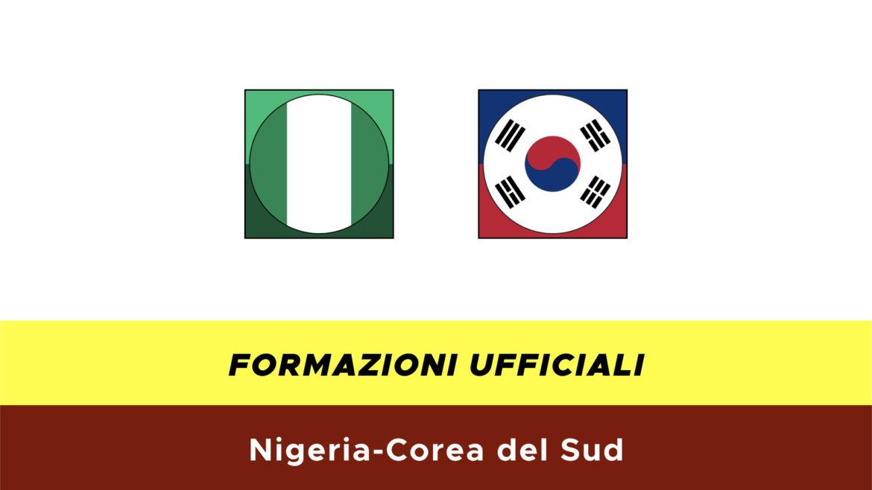 Nigeria-Corea del Sud formazioni ufficiali