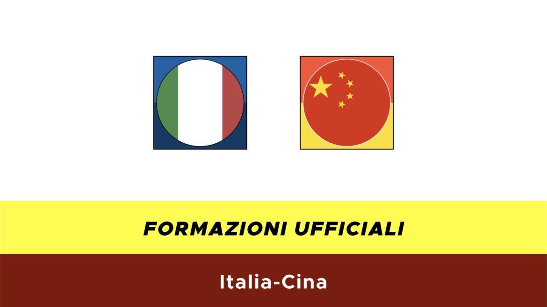 Italia-Cina formazioni ufficiali