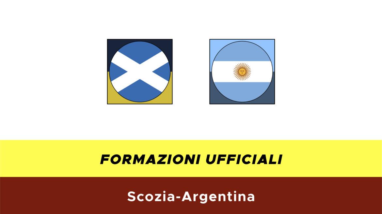 Scozia-Argentina formazioni ufficiali