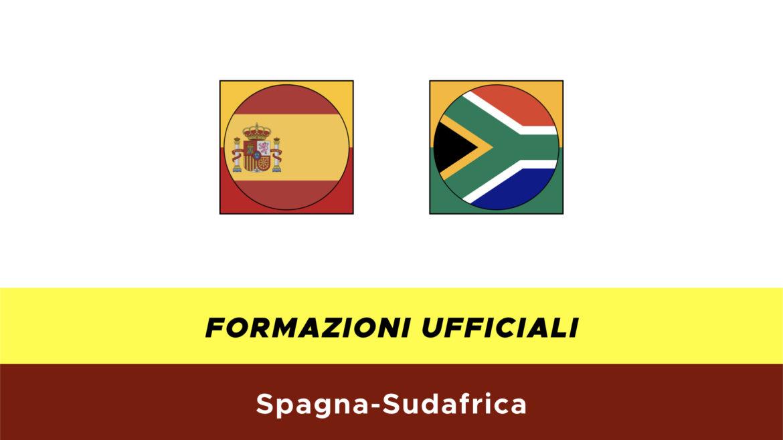 Spagna-Sudafrica formazioni ufficiali