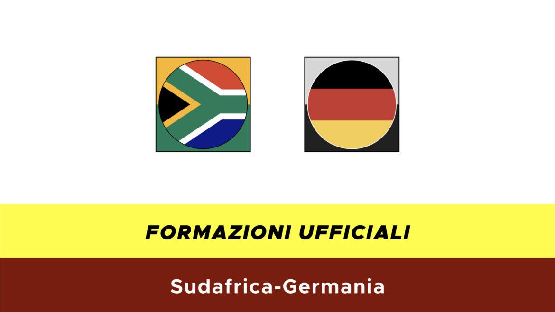 Sudafrica-Germania formazioni ufficiali