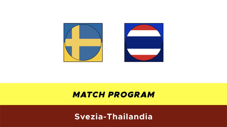 Svezia-Thailandia probabili formazioni