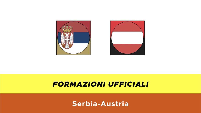 Serbia-Austria under 21 formazioni ufficiali