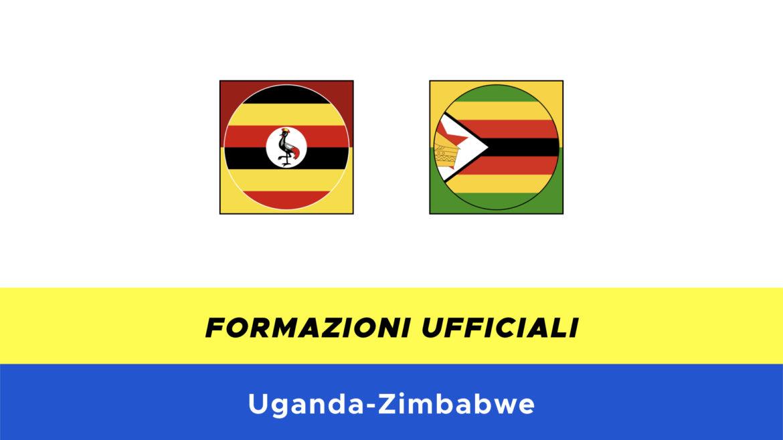 Uganda-Zimbabwe formazioni ufficiali